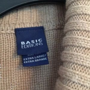 Basic Editions Sweaters - Tan sweater button down xl